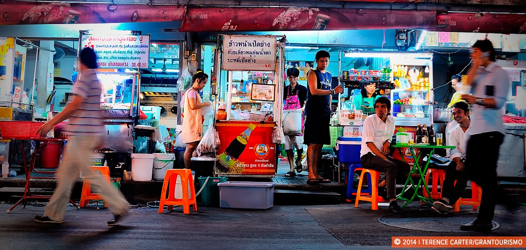 Bangkok Street Food. Soi 38 Thong Lor. Bangkok, Thailand. Copyright 2014 Terence Carter / Grantourismo. All Rights Reserved.