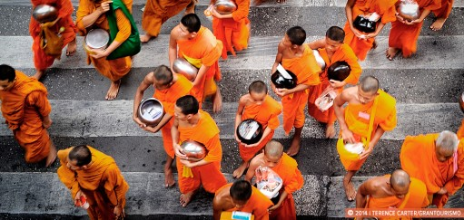 Monday Memories: A Blur of Monks in Bangkok Thailand
