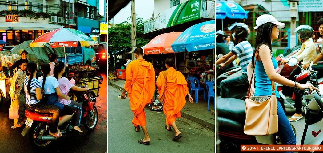 Monks in Phnom Penh, Cambodia