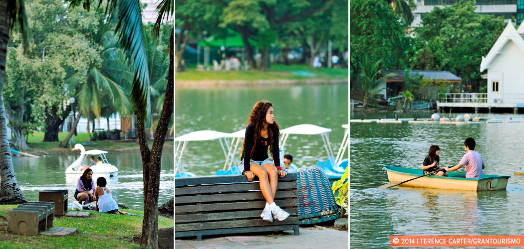 Lumphini Park, Bangkok. Bangkok parks and gardens. Copyright 2014 Terence Carter / Grantourismo. All Rights Reserved.