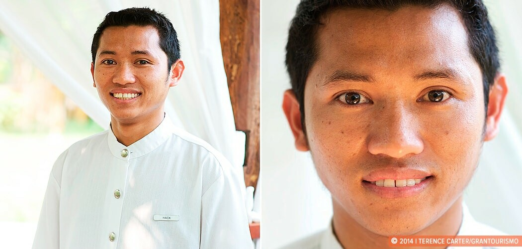 Hack — a waiter from Amantaka in the Luang Prabang countryside