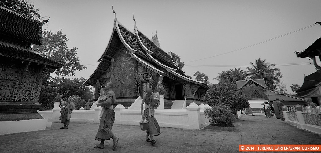 Monks in a Luang Prabang Temple. Copyright 2014 Terence Carter / Grantourismo. All Rights Reserved. Monday Memories: Monks and a Kodak Moment.
