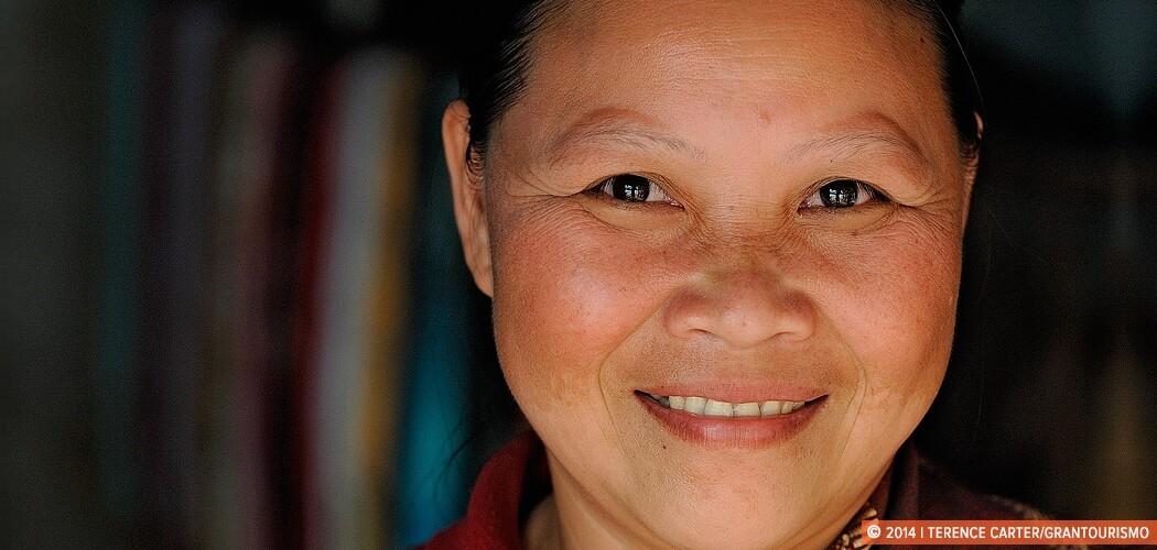 Shopkeeper in the Khamu Village of Nyoy Hai, Mekong River, Laos.