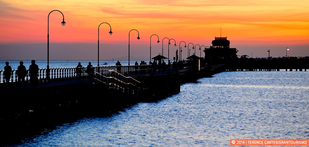 Sunset at St Kilda Pier, Melbourne, Victoria, Australia. Copyright 2014 Terence Carter / Grantourismo. All Rights Reserved.