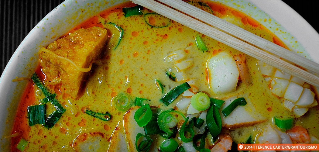 Laksa in Chinatown, Sydney, Australia. Copyright 2014 Terence Carter / Grantourismo. All Rights Reserved. Chinatown Sydney