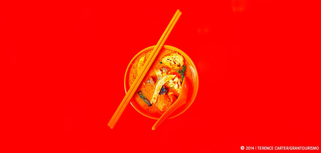 Curry noodles in Kuala Lumpur, Malaysia. Copyright 2014 Terence Carter / Grantourismo. All Rights Reserved.