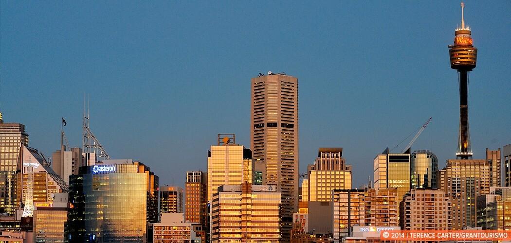 City Skyline from Darling Harbour, Sydney, Australia