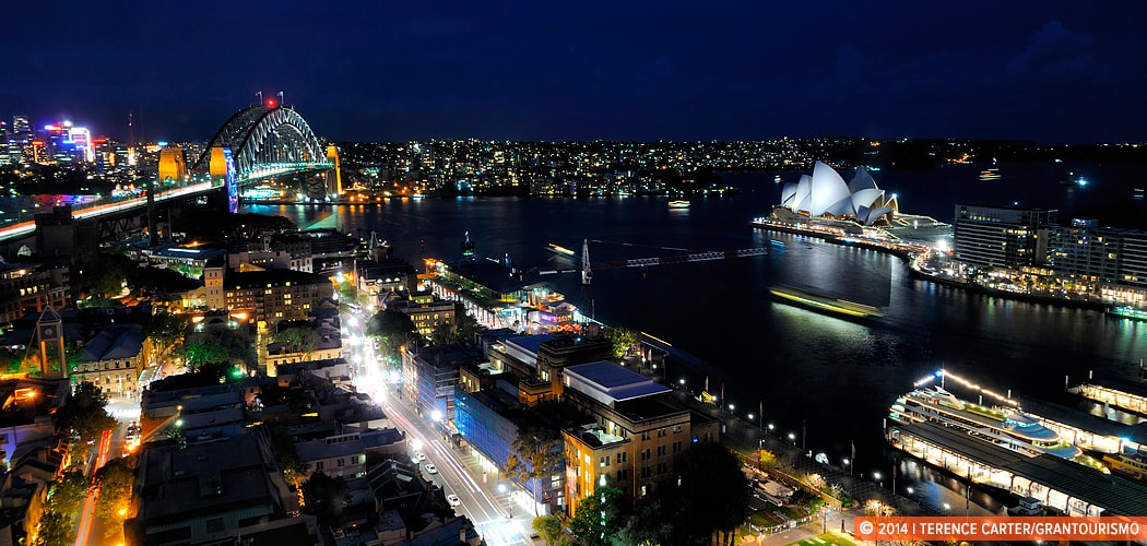 Sydney Harbour from the Four Seasons Hotel, Sydney, Australia. Copyright 2014 Terence Carter / Grantourismo. All Rights Reserved.