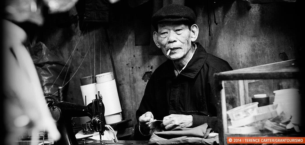 A tailor in Hanoi old town, Hanoi, Vietnam