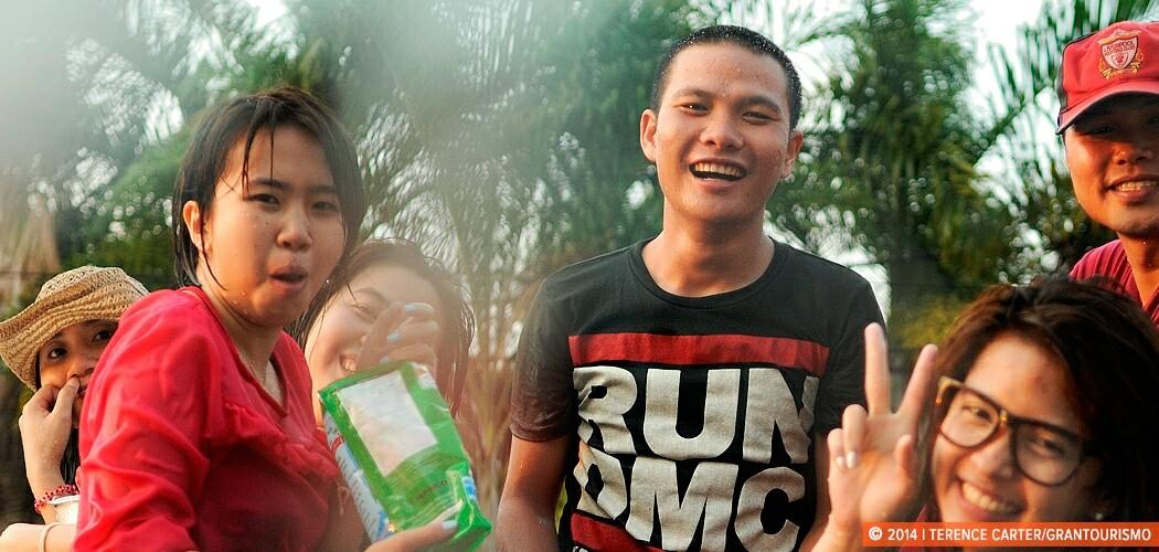 Celebrating Songkran in Thailand. Bangkok.