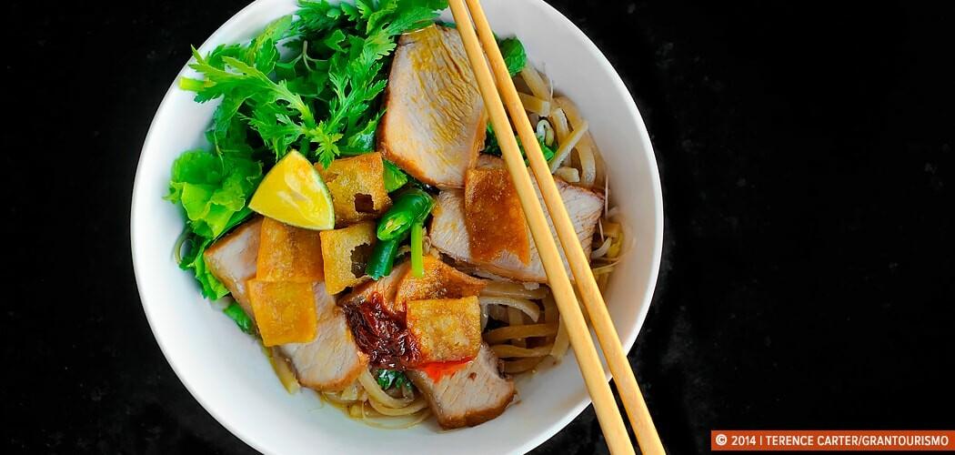 Cao Lau Noodles, Hoi An old town, Hanoi, Vietnam