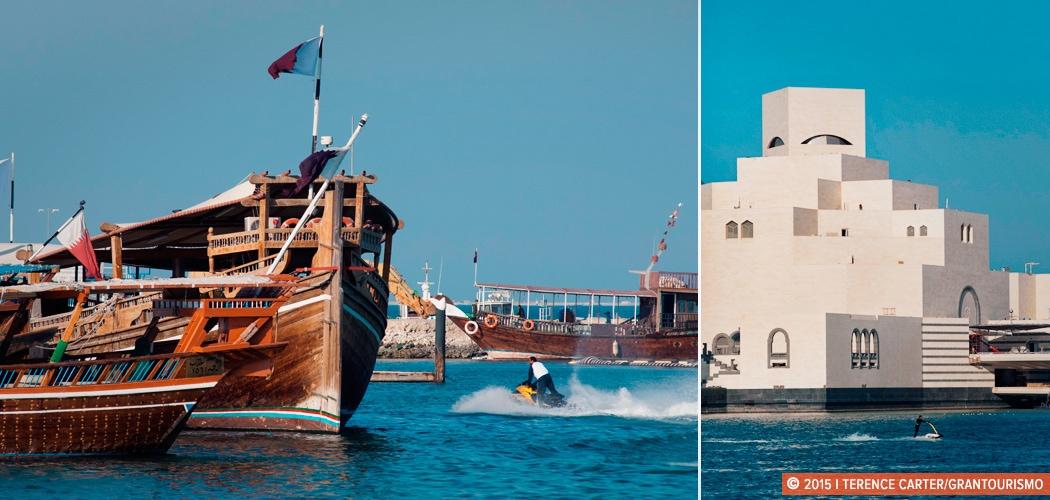 Corniche, Doha, Qatar. Copyright 2015 Terence Carter / Grantourismo. All Rights Reserved. Doha Corniche
