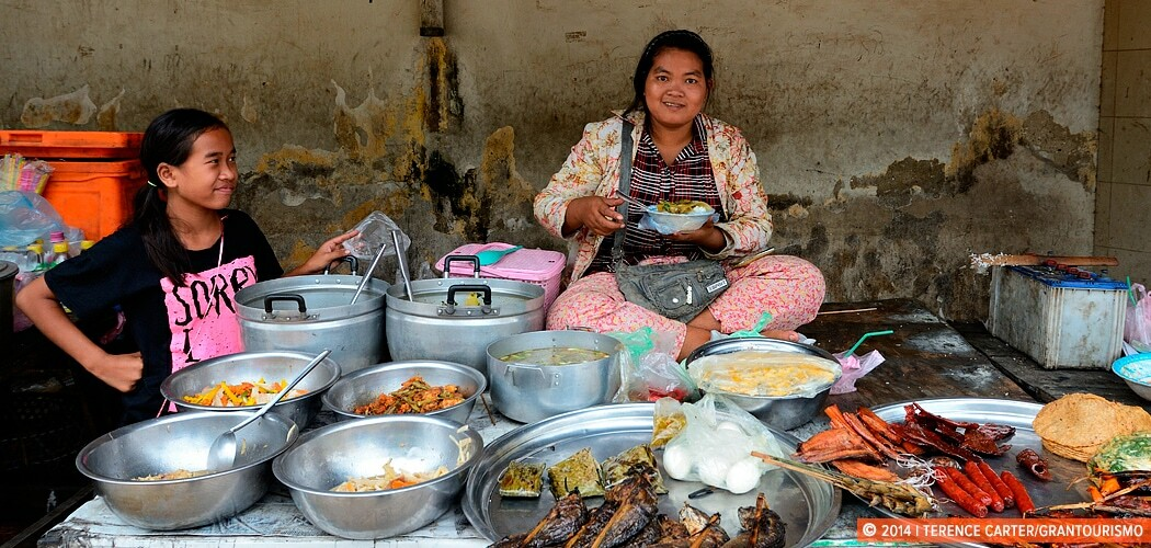 Street Food Stall, Battambang, Cambodia.