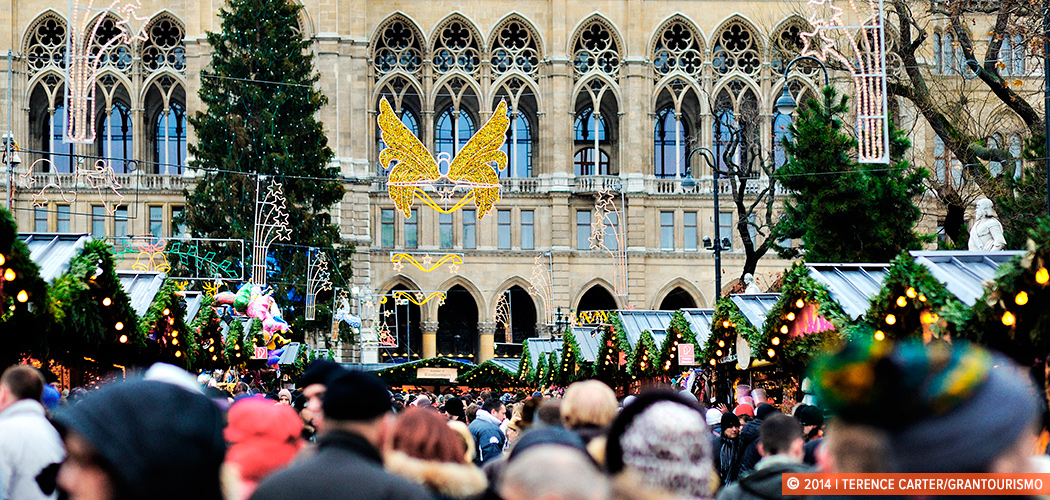 Christmas Makets, Vienna, Austria. Copyright 2014 Terence Carter / Grantourismo. All Rights Reserved.
