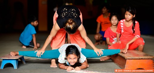 Monday Memories: Student Stretches at Battambang Circus School