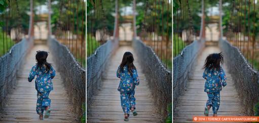 Monday Memories: Crossing a Suspension Bridge in Battambang