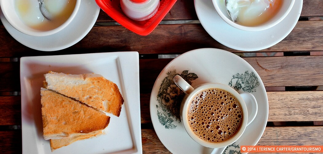 Kopi and Kaya Toast, Chinatown, Singapore. Copyright 2014 Terence Carter / Grantourismo. All Rights Reserved.