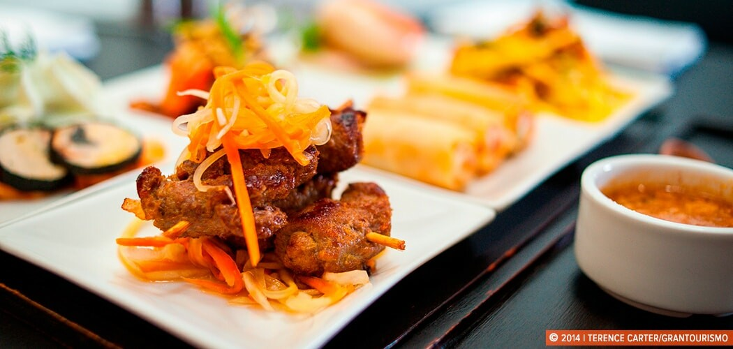 Appetisers at AHA, Siem Reap, Cambodia. Copyright 2014 Terence Carter / Grantourismo. All Rights Reserved.