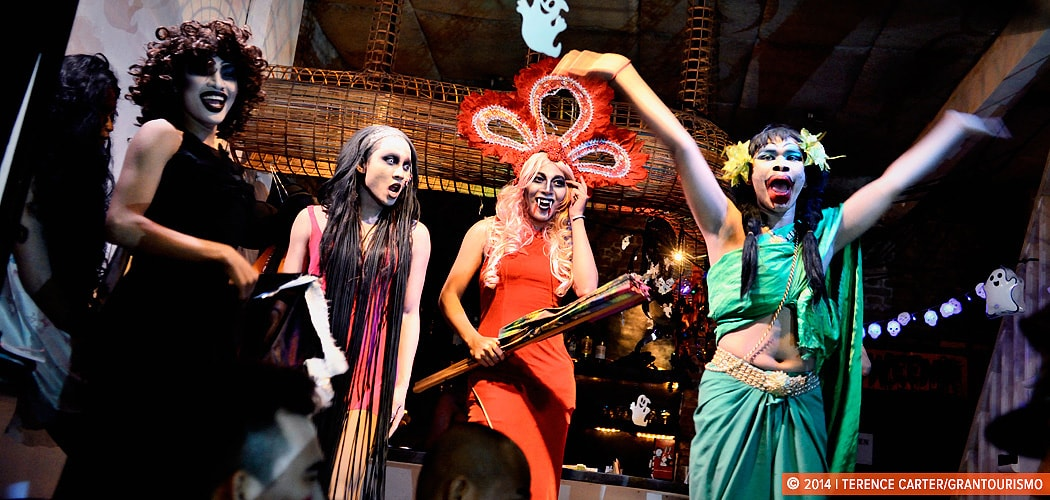 Halloween at Linga Bar, Siem Reap, Cambodia. Copyright 2014 Terence Carter / Grantourismo. All Rights Reserved.