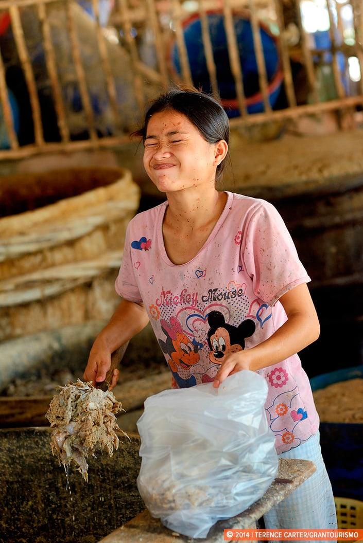 Prahok Factory, Battambang, Cambodia. Copyright 2014 Terence Carter / Grantourismo. All Rights Reserved.