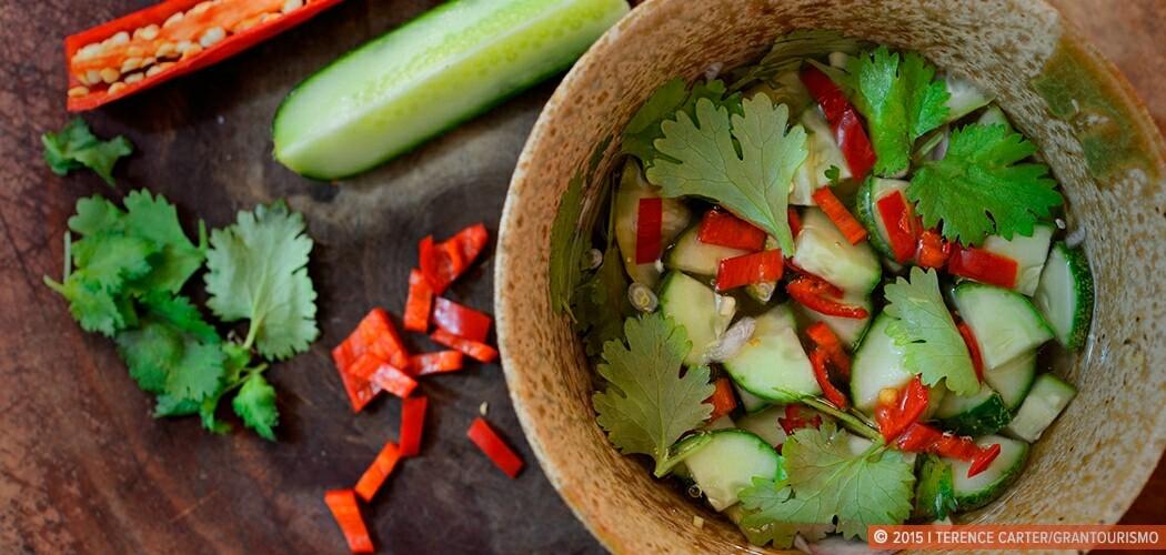 Thai cucumber relish (ajat dtaeng gwa), Siem Reap, Cambodia.