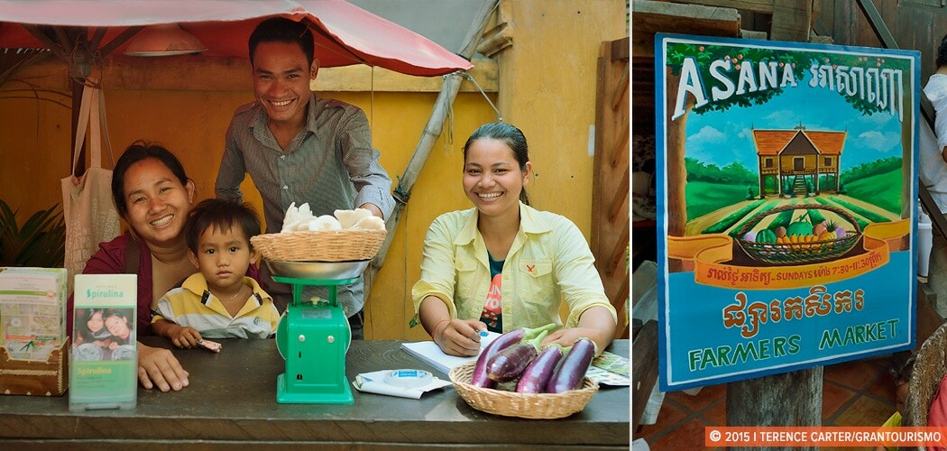 Asana Organic Farmers Market, Siem Reap, Cambodia.