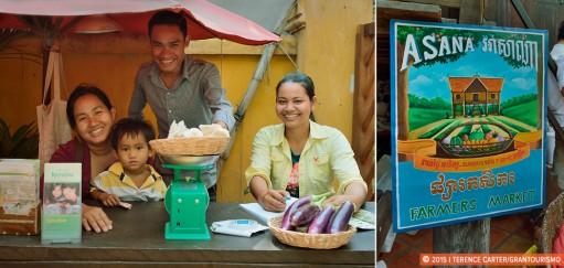 Asana Organic Farmers Market in Siem Reap