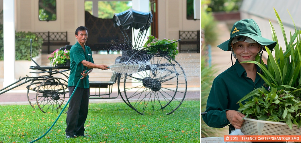 Green Hua Hin. Centara Resort (L) and Chiva Som Resort (R), Hua Hin, Thailand. Copyright 2015 Terence Carter / Grantourismo. All Rights Reserved.