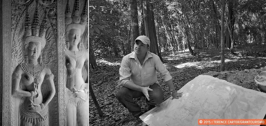 Dr Damian Evans, Angkor Wat, Siem Reap, Cambodia.