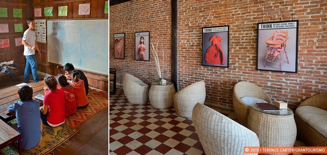Friends International drop in centre (L), Kaya Cafe (R), Siem Re