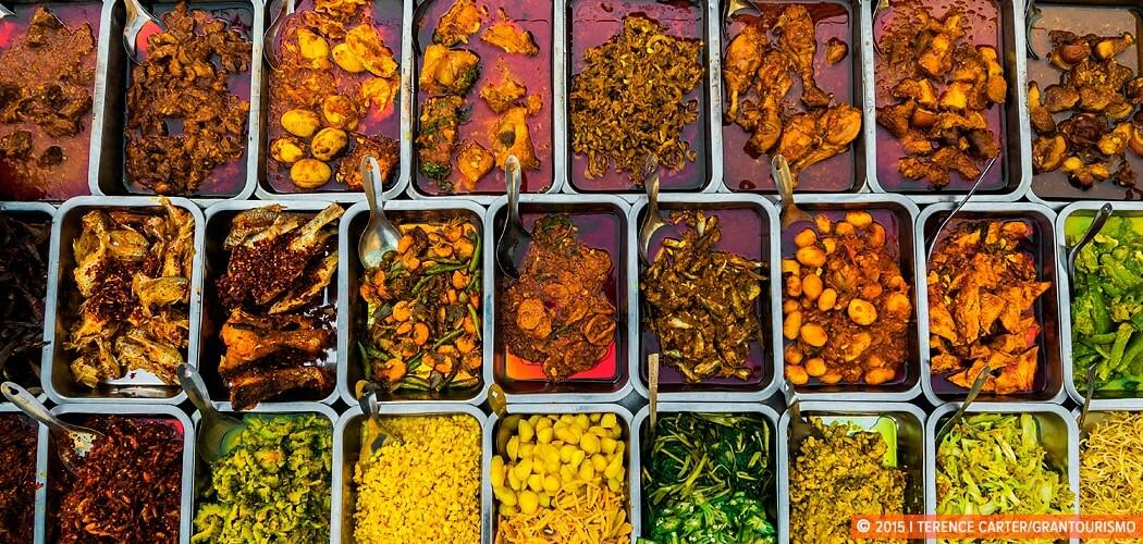 Street food stall, Yangon, Myanmar.