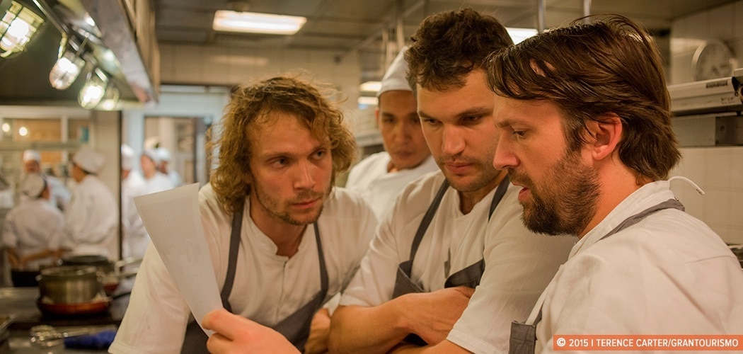 The Grand Gelinaz! Shuffle on July 9th 2015, saw 37 of the best chefs of the planet swapping restaurants for one dinner service only. While David Thompson of Nahm, Bangkok went to cook at Alain Ducasse au Plaza Athénée in Paris, René Redzepi of Noma in Copenhagen took over Nahm for a night. Copyright 2014 Terence Carter / Grantourismo. All Rights Reserved.