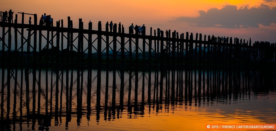 U Bein Bridge, Mandalay, Myanmar. Weekend in Mandalay. Copyright 2015 Terence Carter / Grantourismo. All Rights Reserved.