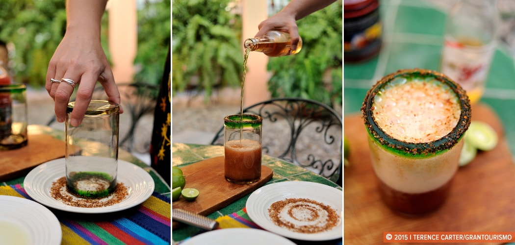 Michelada Recipe, Authentic Mexican, Mexico City, Mexico. Copyright 2014 Terence Carter / Grantourismo. All Rights Reserved.
