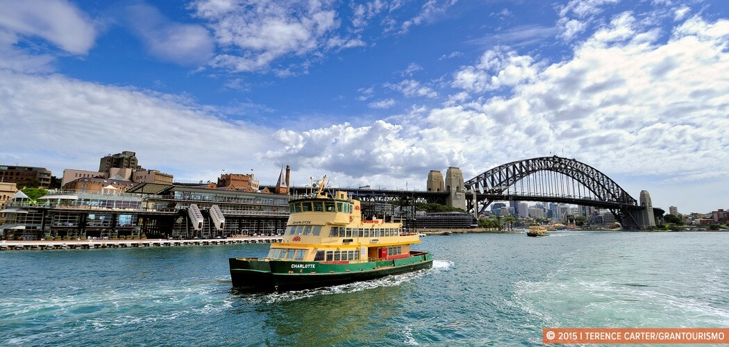 Ferry arriving at Circular Quay, Sydney, Australia