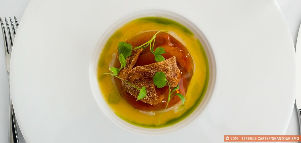 A dish at Hill of Grace Restaurant, Adelaide Oval, Adelaide, Sou