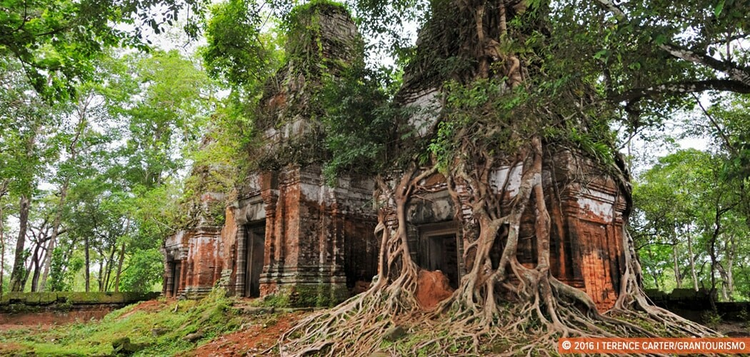 Prasat Pram, part of the archaeological site of Koh Ker.