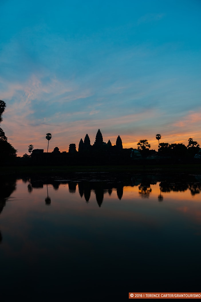 Angkor Wat at dawn. Angkor Archaeological Park, Siem Reap, Cambodia. Copyright 2016 Terence Carter / Grantourismo. All Rights Reserved. Best Photography Equipment for the Angkor Wat Temples.