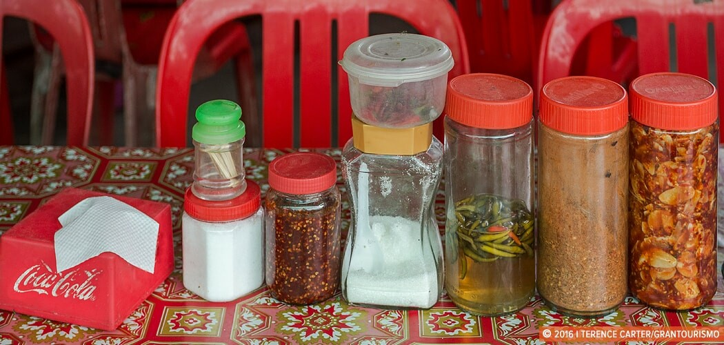 Cambodia Culinary Tour — noodle shop outside Siem Reap. Copyri