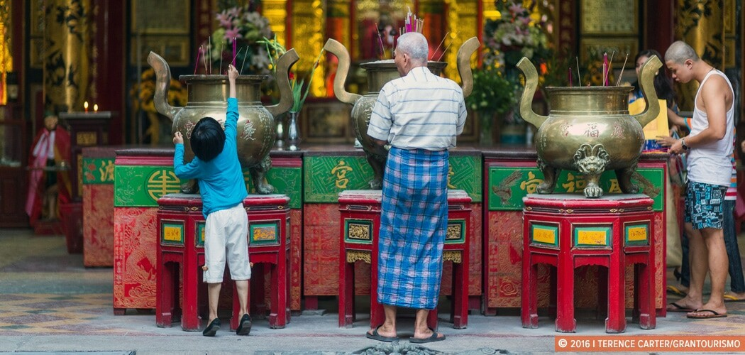 Chinese temple in Yangon, Myanmar (Burma).