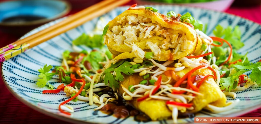 Crab Omelette Recipe - Weekend Eggs, Asian Dishes