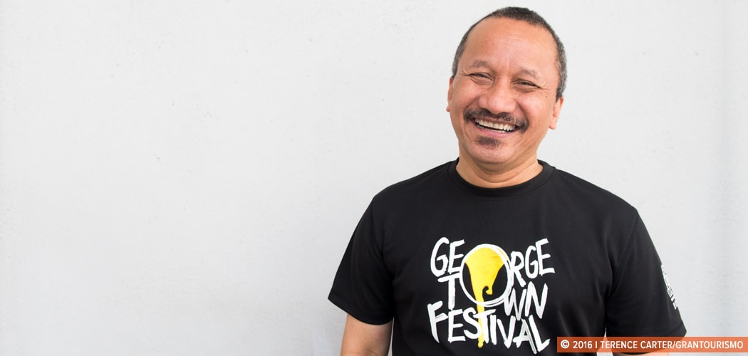 Joe Sidek, director of the George Town Festival, George Town, Penang, Malaysia. Copyright 2016 Terence Carter / Grantourismo. All Rights Reserved.