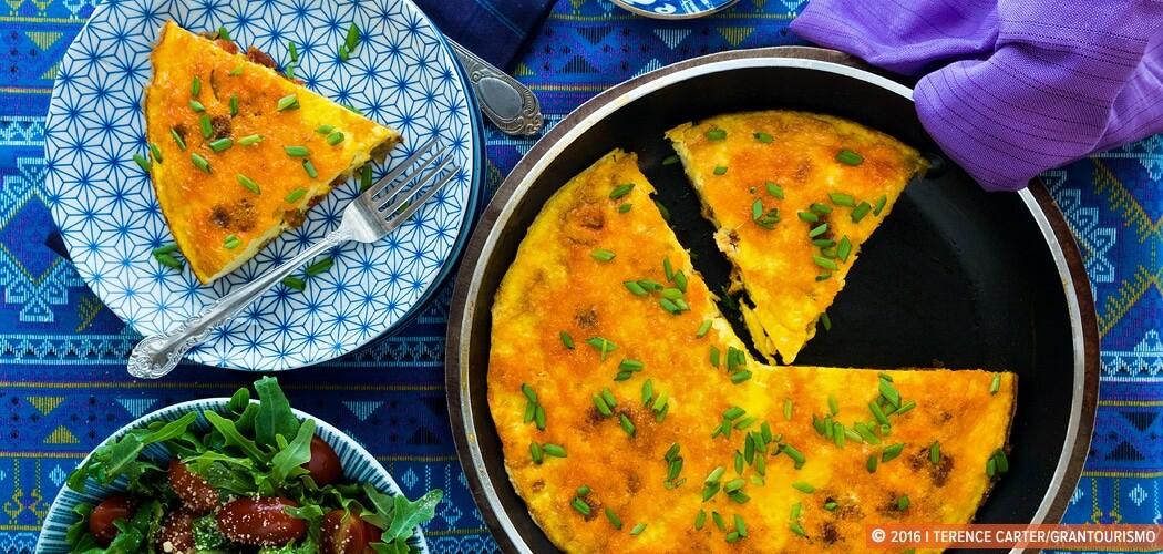 Frittata Recipe —Frittata with Chorizo and Caramelised Onion