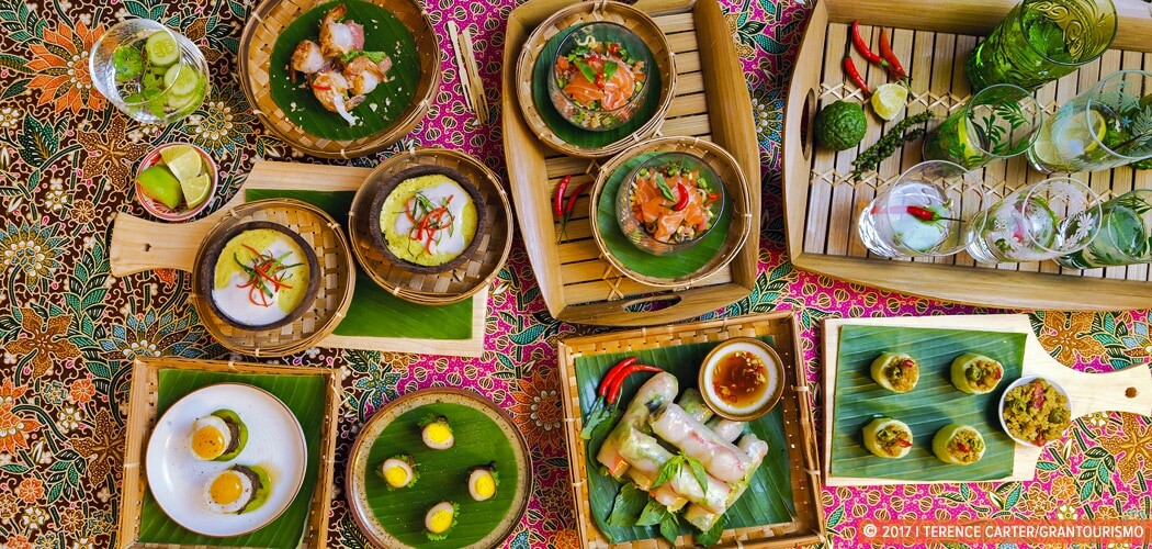 Creative Cambodian Canapés, Siem Reap, Cambodia.