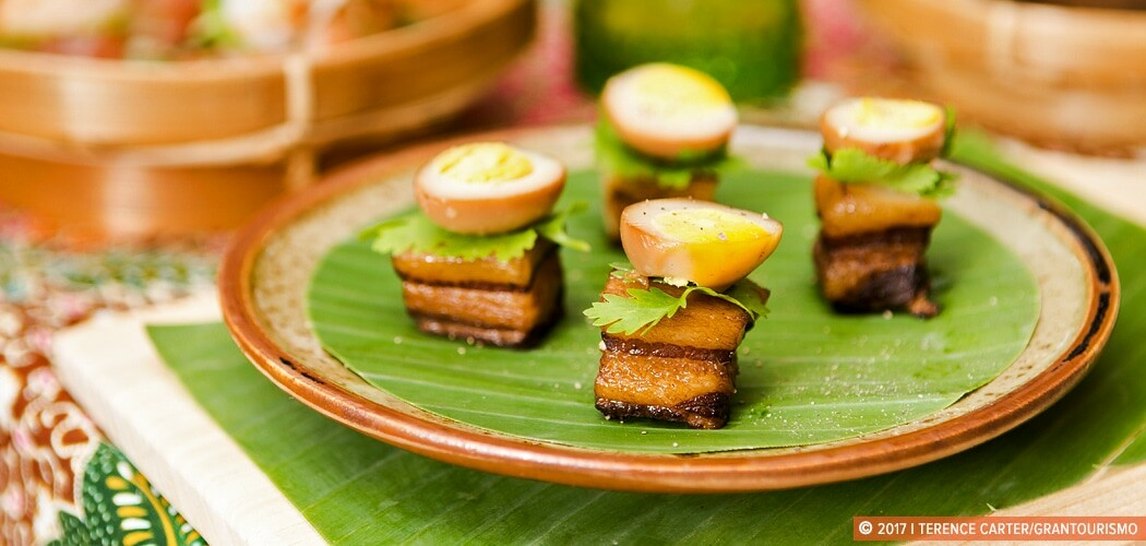 Sweet Pork Belly with Boiled Eggs Recipe, Siem Reap, Cambodia.