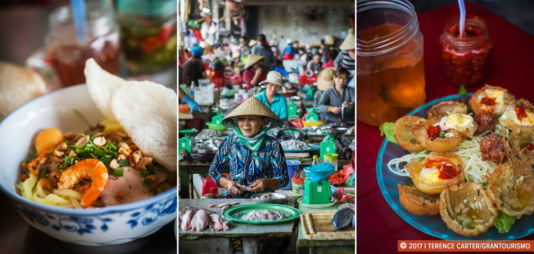 Food in Hoi An, Vietnam. Copyright 2017 Terence Carter / Grantourismo. All Rights Reserved. Hoi An street food tour
