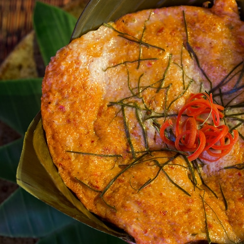 Cambodian Fish Amok Recipe. Copyright 2017 Terence Carter / Grantourismo. All Rights Reserved. Cambodian Fish Amok Recipe – an Authentic Steamed Fish Curry in the Old Style.