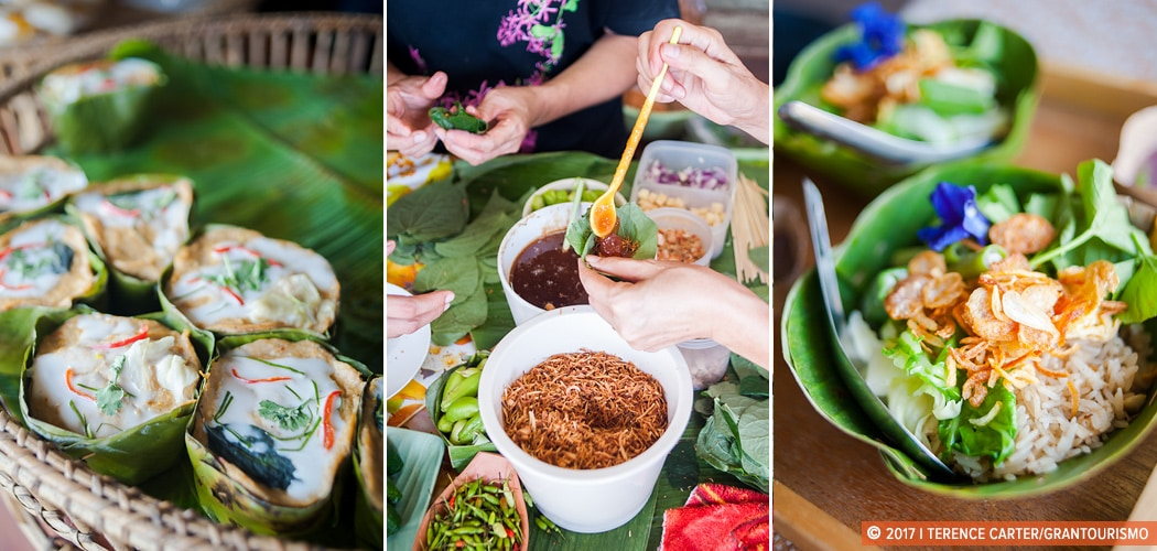 How to be a greener traveller. Food and produce on a floating market tour, Bangkok, Thailand. Copyright 2017 Terence Carter / Grantourismo. All Rights Reserved. Thailand Culinary Tour.