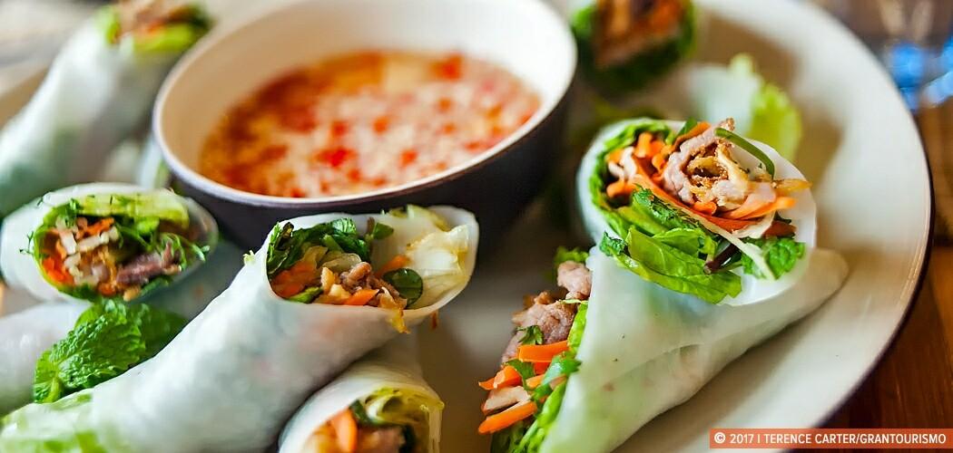 Fresh Spring Rolls, cooking class, Saigon, Vietnam.
