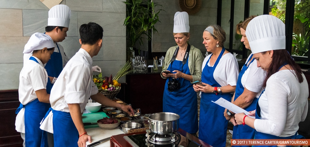 Cooking Class at Malis Restaurant, Siem Reap, Cambodia. Copyright 2017 Terence Carter / Grantourismo. All Rights Reserved. Is Cambodia Safe for Women Travellers?